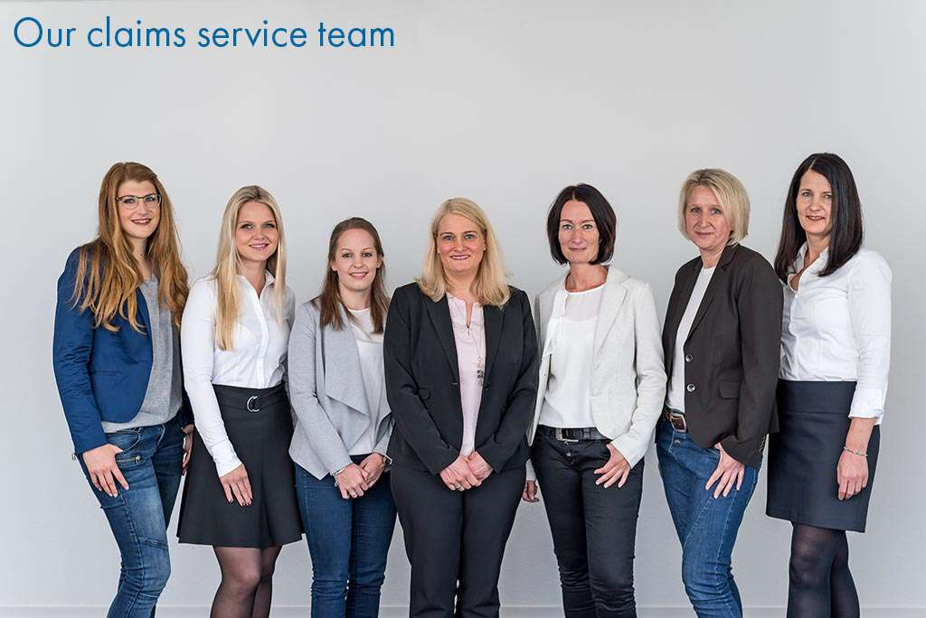 Our claims service team